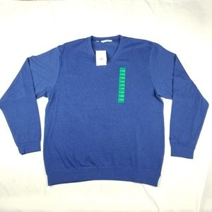 NWT Men's Cutter & Buck XL Pullover Sweater Blue